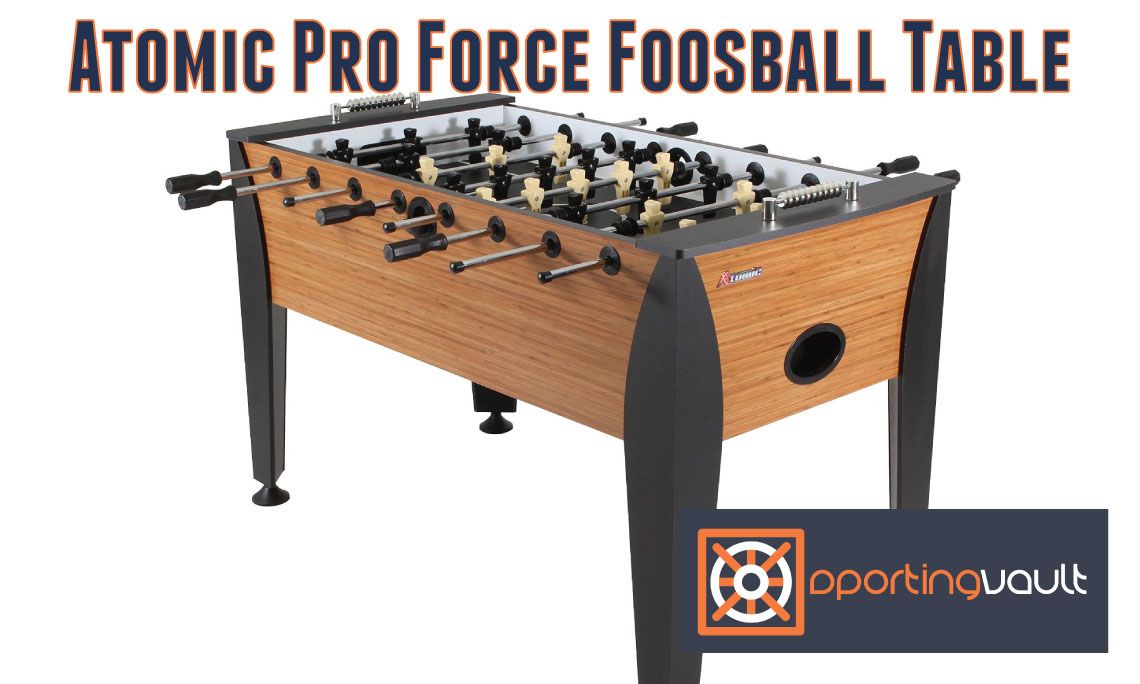 Atomic pro force foosball table review sporting vault for Table 09 reviews